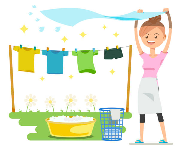 Clothes drying under the sun